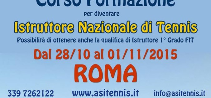 Corso di Formazione per Istruttore di Tennis a ROMA
