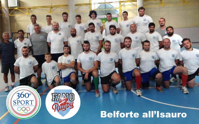 Fano Rugby in ritiro a Belforte all'Isauro