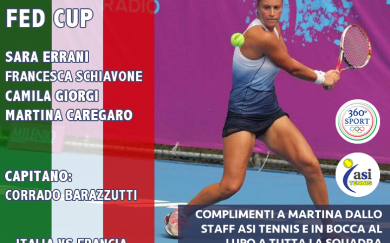 Con Martina Caregaro e Gino D'Angelo ASI TENNIS partecipa alla Federation Cup