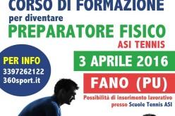 """Corso """"Preparatore Fisico ASI Tennis"""""""