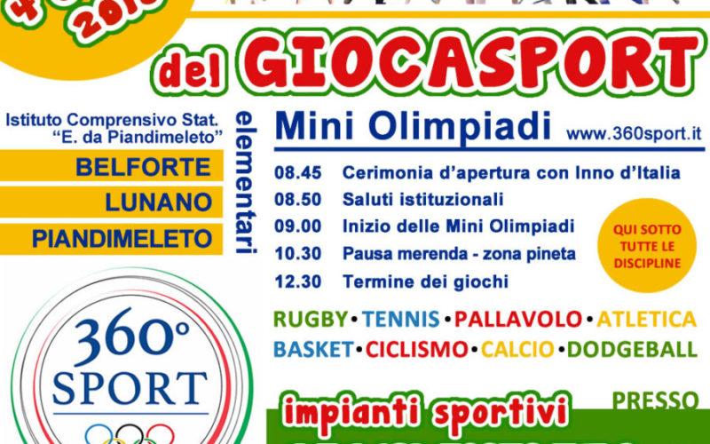 Mini Olimpiadi del Giocasport a Piandimeleto