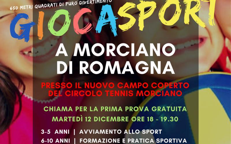 """Arriva a Morciano il Giocasport: """"uno strumento di educazione alla vita"""""""