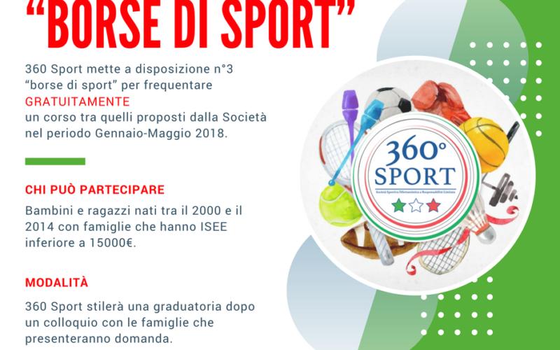 """""""Borse di Sport"""": un'opportunità innovativa offerta da 360 Sport"""