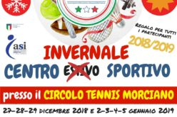 Dal 2 al 5 gennaio torna il centro invernale sportivo del Ct Morciano