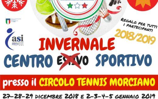 Il Ct Morciano si prepara al Natale: torna il centro invernale sportivo dedicato a bambini e ragazzi dai 4 ai 13 anni